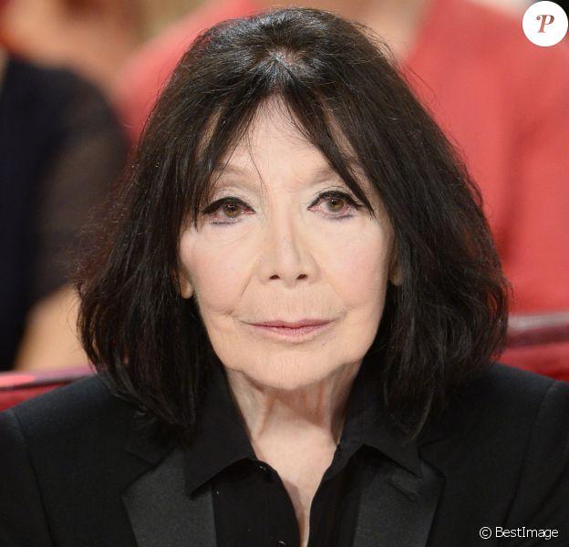 """Juliette Greco dans l'émission """"Vivement Dimanche"""" à Paris, 2013."""