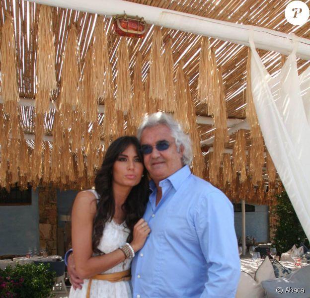 Flavio Briatore, ici avec son épouse Elisabetta Gregoraci, va-t-il devoir renoncer au sport ?