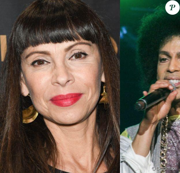 Mathilda May raconte son amitié insoupçonnée avec Prince. Montage photo par Purepeople. © Coadic Guirec/Bestimage