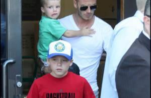 David Beckham : son fils Romeo est son nouveau garde du corps... et il est très énervé !