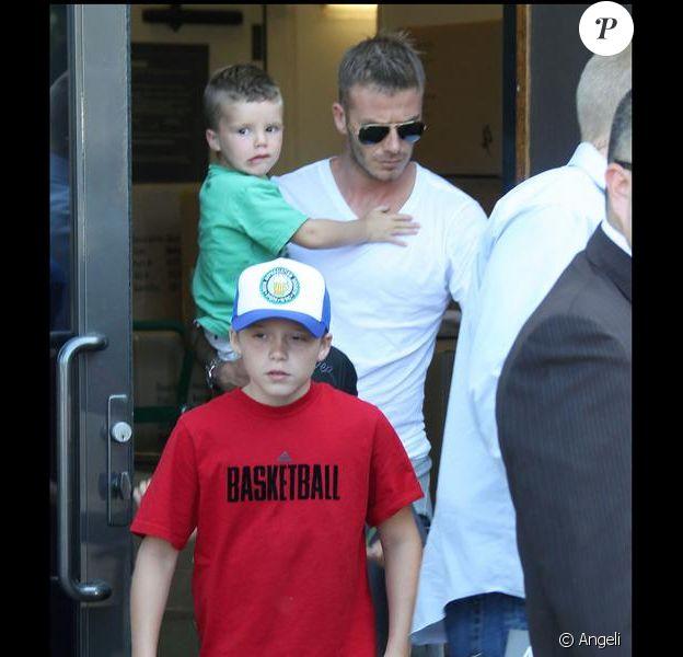 David Beckham et ses fils.