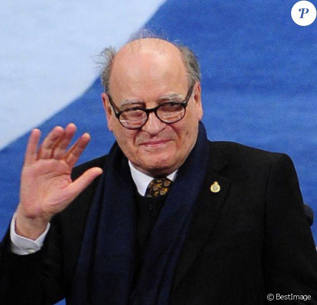 """Joaquin Salvador Lavado Tejon """"Quino"""" lors de la cérémonie de remise des prix Prince des Asturies à Oviedo, le 24 octobre 2014."""