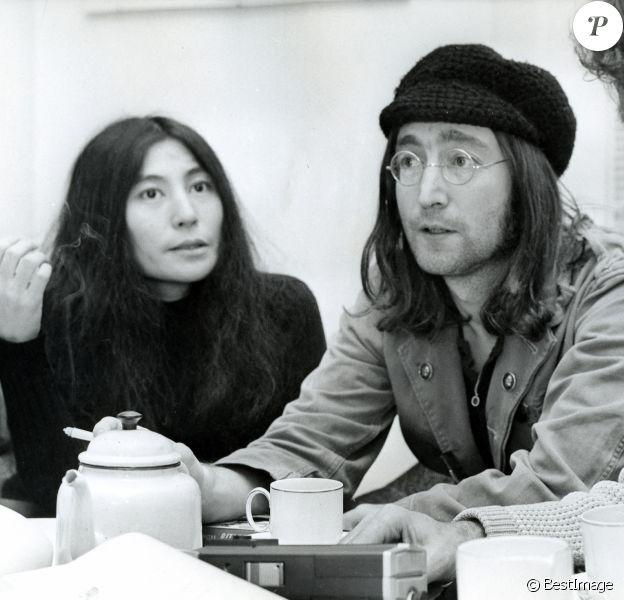 John Lennon et Yoko Ono (photo d'archives).