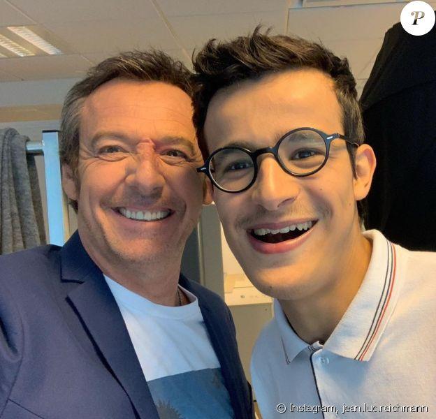 """Jean-Luc Reichmann et Paul des """"12 Coups de midi"""" complices en coulisses, sur Instagram"""