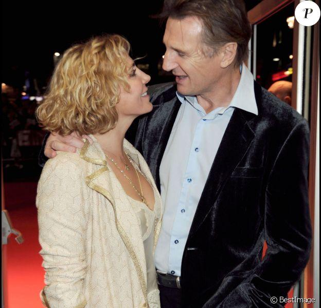 Natasha Richardson et Liam Neeson à Londres le 17 octobre 2008.
