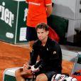 Hugo Gaston s'incline en 8ème de finale des internationaux de France de Roland Garros face à Dominic Thiem le 4 octobre 2020. © Dominique Jacovides / Bestimage