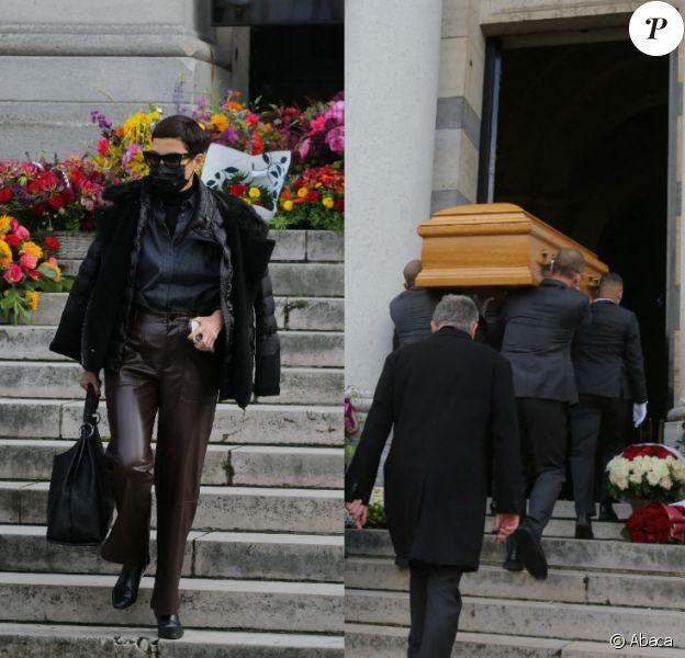 Obsèques du couturier japonais Kenzo Takada au cimetière du Père Lachaise, octobre 2020 à Paris.