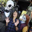 Estelle Denis à l'occasion de l'ouverture de la saison d'Halloween à Disneyland Paris, le 26/09/09