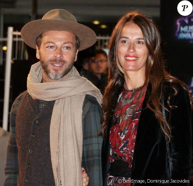 """Christophe Maé et sa femme Nadège à la 18ème cérémonie des """"NRJ Music Awards"""" au Palais des Festivals à Cannes. © Dominique Jacovides/Bestimage"""
