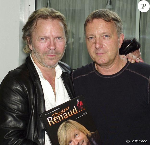 David et Thierry Séchan - 1er salon du livre de célébrités à l'espace Pierre Cardin sur les Champs-Elysées.