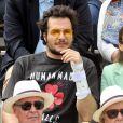 Amir Haddad et sa femme Lital - Célébrités dans les tribunes des internationaux de France de tennis de Roland-Garros à Paris, France, le 9 juin 2019. © Jacovides-Moreau/Bestimage
