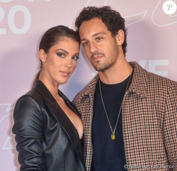 Iris Mittenaere et Diego El Glaoui - Photocall du défilé Etam Live Show 2020 à Paris, automne 2020. © Pool Agence Bestimage