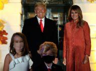 Donald Trump hilare devant un mini lui, Melania rétablie : Halloween à la Maison-Blanche