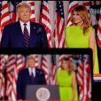 Donald Trump et la First Lady Melania Trump - Donald Trump lors de l'investiture pour le parti républicain à Washington en présence de sa famille le 27 Août 2020 © Imago / Panoramic / Bestimage