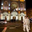 Illustration de la basilique Notre-Dame de Nice, au soir de l'attentat ayant fait trois victimes. Le 29 octobre 2020 Norbert Scanella / Panoramic / Bestimage