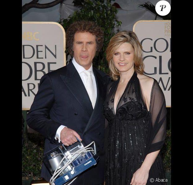 Will Ferrell et sa femme Viveca Paulin en janvier 2007