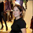Mazarine Pingeot à l'inauguration de la grande boutique Uniqlo. 30/09/09