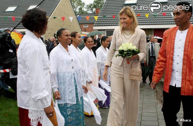 Maxima des Pays-Bas à Marum, le 30 septembre 2009