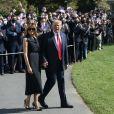 Le président Donald Trump et sa femme Melania quittent la Maison Blanche pour aller à Nashville le 22 octobre 2020.