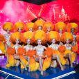 """Exclusif  Les danseuses du Moulin Rouge - Backstage de l'enregistrement de l'émission """"La boîte à Secrets 5"""" à Paris, qui sera diffusée le 6 novembre sur France 3. Le 21 septembre 2020 © Tiziano Da Silva / Bestimage"""