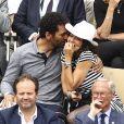Tomer Sisley et Sandra Zeitoun - People dans les tribunes lors de la finale messieurs des internationaux de France de tennis de Roland Garros 2019 à Paris le 9 juin 2019. © Gwendoline Le Goff/Panoramic/Bestimage