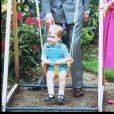 Le prince Charles, Diana et leur fils William en 1984.