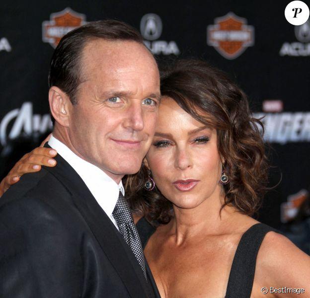"""Jennifer Grey et Clark Greg - Première du film Marvel """"The Avengers"""" à Los Angeles."""