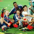 Bixente Lizarazu, Didier Deschamps, Marcel Desailly, Robert Pirès, Patrick Viera et Thierry Henry lors de l'Euro 2000.