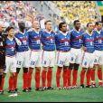 Bixente Lizarazu (à droite, entre Fabien Barthez et Lilian Thuram) lors de la Coupe du monde 1998.