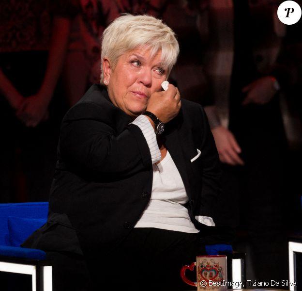 """Exclusif - Mimie Mathy - Enregistrement de l'émission """"La Boîte à secrets 4"""" à Paris, présentée par F.Bollaert © Tiziano Da Silva / Bestimage"""