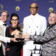 Ross Mathews, RuPaul Andre Charles, RuPaul, Michelle Visage - 70e Primetime Emmy Awards au théâtre Microsoft à Los Angeles le 17 septembre 2018.