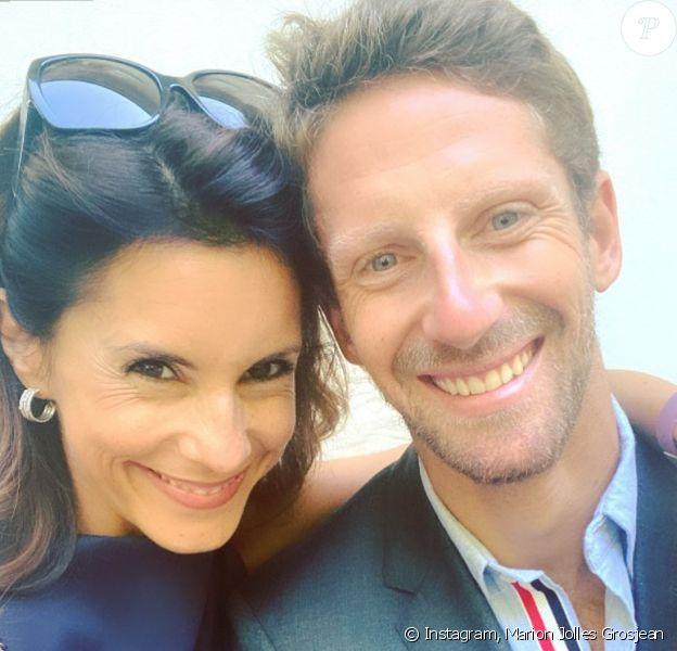 Romain Grosjean et son épouse Marion Jolles Grosjean. Septembre 2020.