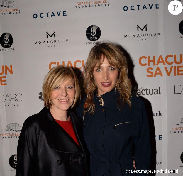 """Chantal Ladesou et Pauline Lefèvre lors de l'after party du film """"Chacun sa vie"""" à L'Arc à Paris, France. © Rachid Bellak/Bestimage"""