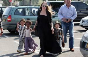 Angelina Jolie en virée shopping avec ses anges Pax, Zahara et Shiloh... déguisée en basterd !