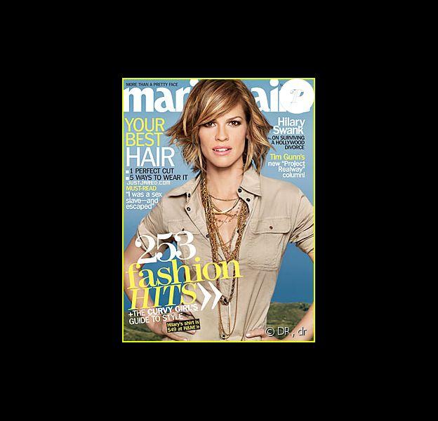 Hilary Swank en couverture du magazine Marie-Claire