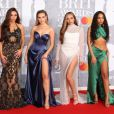 Little Mix (Jesy Nelson, Perrie Edwards, Jade Thirlwall, Leigh-Anne Pinnock) au photocall de la cérémonie des Brit Awards 2019 à l'O2 Arena à Londres le 20 février 2019.