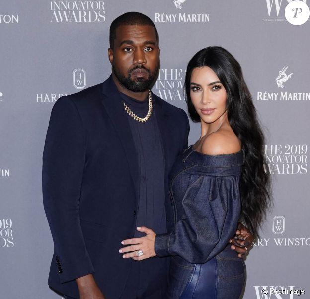 Kanye West et sa femme Kim Kardashian - Les célébrités lors de la soirée WSJ Innovators Awards au musée d'Art Moderne à New York