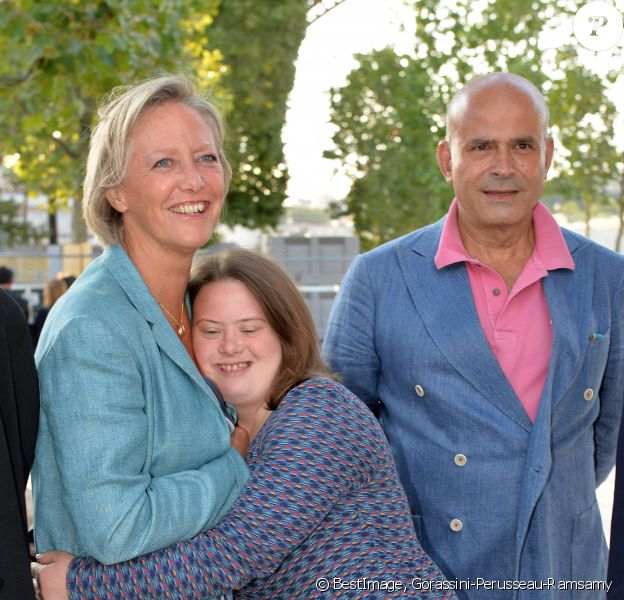 Exclusif - Sophie Cluzel avec sa fille julia et son mari Bruno - Concert de Paris sur le Champ de Mars à l'occasion de la Fête Nationale à Paris © Gorassini-Perusseau-Ramsamy/Bestimage