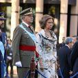 La Famille Royal d'Espagne célébrant la fête nationale, le 12 octobre 2009
