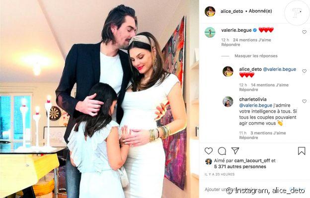 Camille Lacourt et Alice Deto officialisent l'arrivée de leur premier enfant sur Instagram, le 7 janvier 2021. Valérie Bègue, l'ex-femme du nageur et mère de sa fille a réagi.