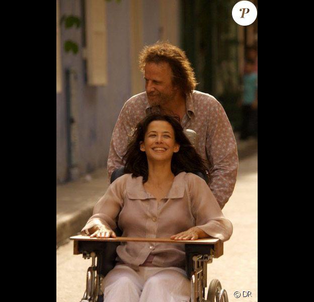 Sophie Marceau et Christophe Lambert dans le film L'Homme de chevet