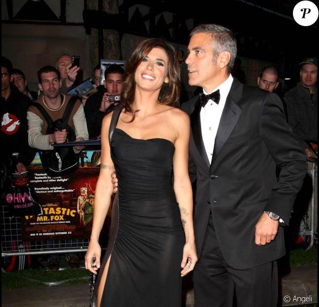 George Clooney et la superbe Elisabetta Canalis, à l'occasion de l'avant-première du Fantastique Mr. Fox, dans le cadre du BFI London Film Festival, à l'Odeon Leicester Square de Londres, le 14 octobre 2009 !