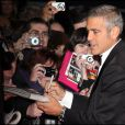 George Clooney, à l'occasion de l'avant-première du  Fantastique Mr. Fox , dans le cadre du BFI London Film Festival, à l'Odeon Leicester Square de Londres, le 14 octobre 2009 !