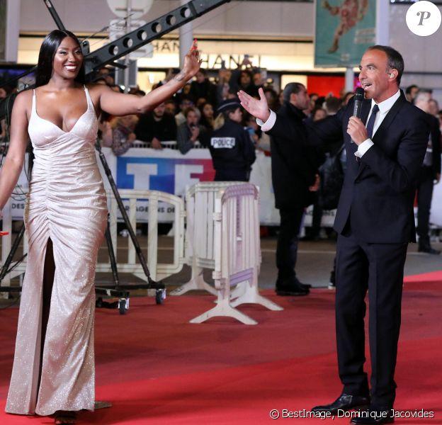 Aya Nakamura et Nikos Aliagas - 21ème édition des NRJ Music Awards au Palais des festivals à Cannes © Dominique Jacovides/Bestimage