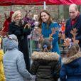 Le prince William, duc de Cambridge, et Catherine (Kate) Middleton, duchesse de Cambridge, rencontrent le personnel et les élèves lors d'une visite à la Holy Trinity Church of England First School à Berwick upon Tweed le deuxième jour d'une tournée de trois jours à travers le pays. Le 7 décembre 2020.