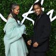 """Rihanna, ASAP Rocky - Les célébrités assistent à la cérémonie """"Fashion Awards"""" à Londres."""