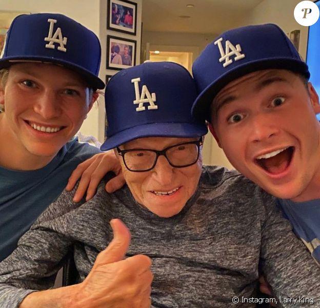 Larry King et ses deux fils, Chance et Cannon.