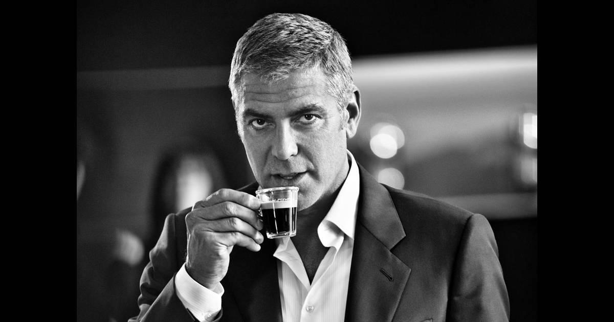 Джордж клуни фото в рекламе кофе