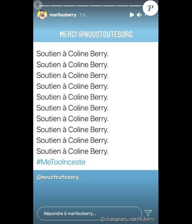 Marilou Berry apporte son soutien à sa cousine Coline Berry sur Instagram, le 3 février 2021.