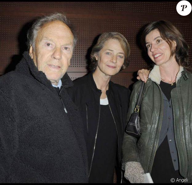 Jean-Louis Trintignant, Charlotte Rampling et Irène Jacob, à l'occasion de l'avant-première du Ruban Blanc, qui s'est tenue à la Cinémathèque Française, à Paris, le 19 octobre 2009 !